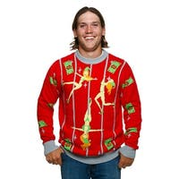 Pole Dancing Elves Ugly Christmas Sweater
