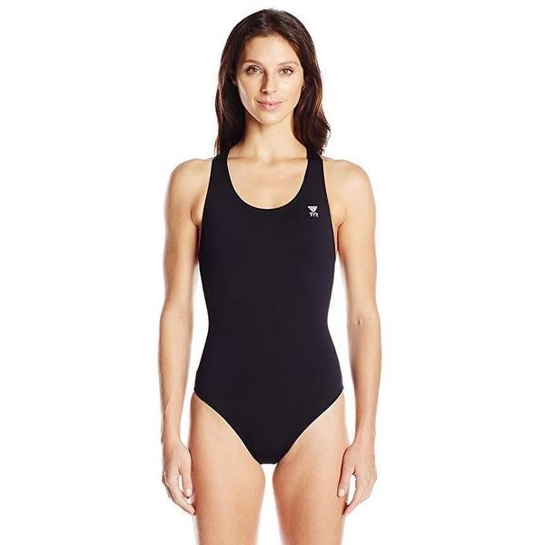 1ffd57266 Shop TYR SPORT Women s Durafast Elite Solid Maxfit Swimsuit (Black ...
