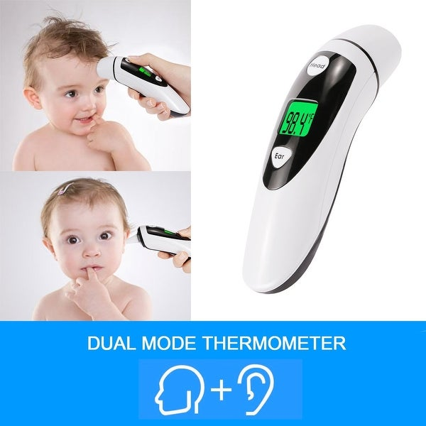 Fitnate Ear and Forehead Thermometer for Baby Adult Instant Read IR Fever Alarm Medical Infrared Lens Technology