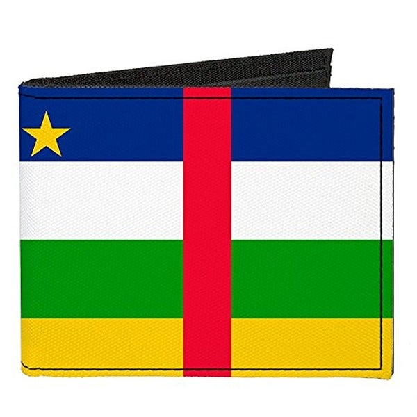 Buckle-Down Canvas Bi-fold Wallet - Central African Republic Flag Accessory