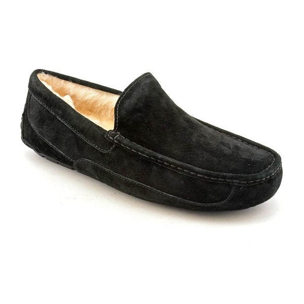 b512276d279 Shop Ugg Australia Ascot Men Moc Toe Suede Black Slipper - Free ...