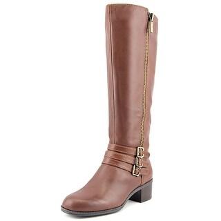 Bandolino Carsononi Wide Calf Round Toe Leather Knee High Boot