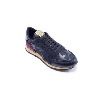 Valentino Mens Navy Star Camo Rockrunner Sneakers