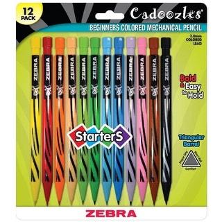 Zebra Cadoozles Starters Mechanical Colored Pencils, Assorted Colors, Set of 12