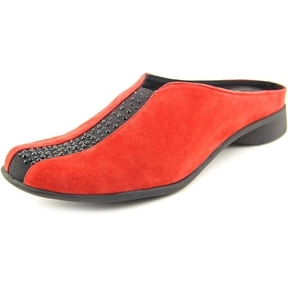 J. Renee Cayla Round Toe Suede Mules