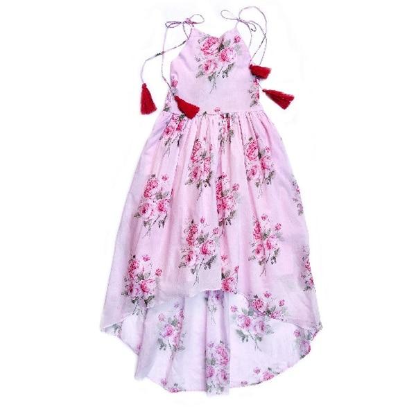 12c1af39b Shop Sophie Catalou Little Girls Blush Kaya Halter Dress 6 - Free Shipping  Today - Overstock - 28376794