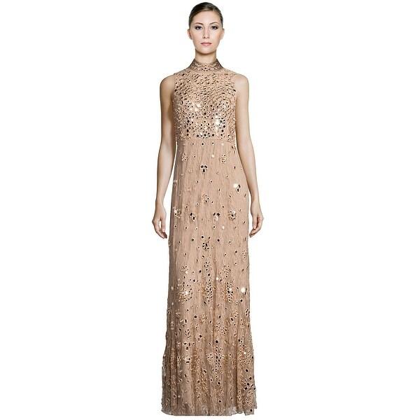 Shop Alice & Olivia Susanne Embellished Lace Mockneck Evening Gown ...