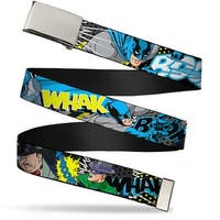 Blank Chrome  Buckle Batman & Villains1 Webbing Web Belt