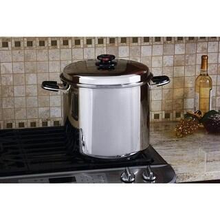 Precise Heat 24qt 12-Element ''Waterless'' Stockpot with Deep Steamer Basket