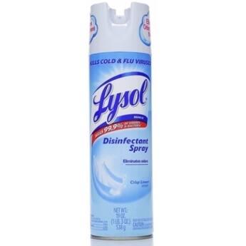 LYSOL Disinfectant Spray Crisp Linen Scent, 19 oz