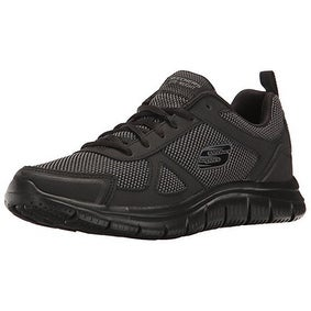 Skechers Sport Men's Track Oxford, Black, 11 M US