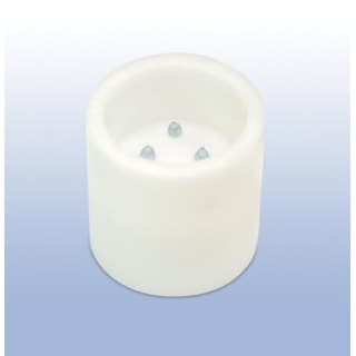 "Pack of 2 White Flameless Wax LED Pillar Candles w/Timer 6"" x 6"""