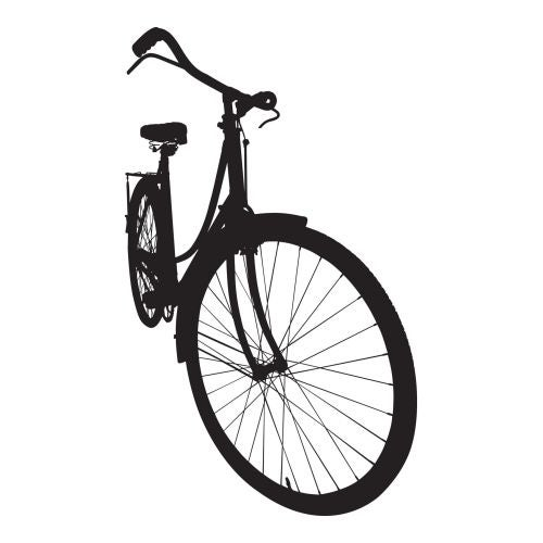 Brewster CR-57117 Bicycle Silhouette Wall Decals