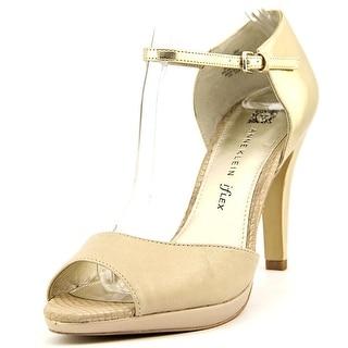 Anne Klein Dandy Peep-Toe Synthetic Heels