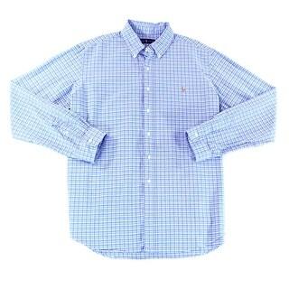 Ralph Lauren NEW Blue Mens Size Medium M Button Down Cotton Shirt
