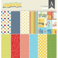"Summertime; 12 Designs/2 Each - Authentique Double-Sided Cardstock Pad 12""X12"" 24/Pkg"