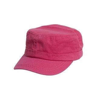 Women's Washed Military Cadet Style Cap - Fuchsia