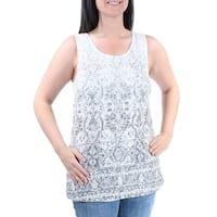 INC Womens Ivory Sleeveless Scoop Neck Top  Size: S