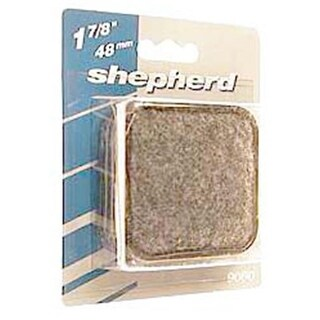 Shepherd 9090 4 Count 1.38 in. Round Metal Carpet Base Caster Cups