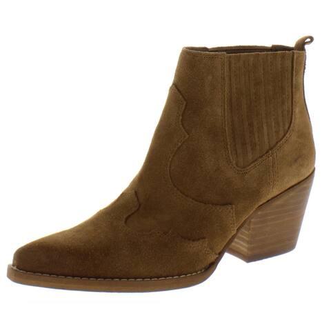 Sam Edelman Womens Winona Cowboy, Western Boots Suede Ankle