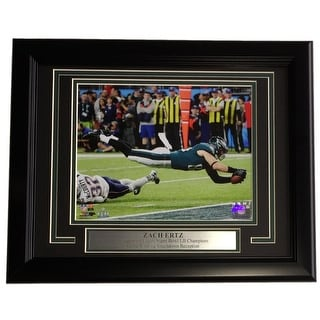 Zach Ertz Framed 8x10 Philadelphia Eagles Super Bowl 52 LII Winning Touchdown Photo