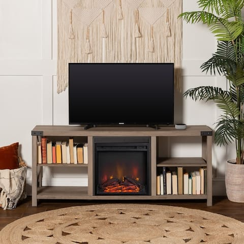 The Gray Barn Kujawa 60-inch X-Accent Fireplace TV Console