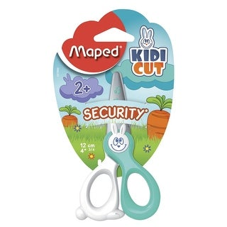 Maped Kidi Cut Security Scissors, 4-3/4 in, Assorted Colors