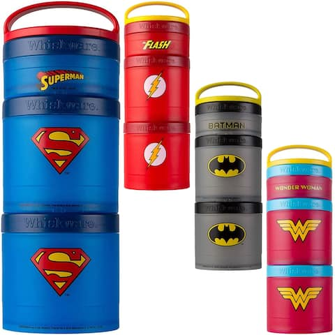 Whiskware Justice League Stackable Snack Pack Containers - One Size