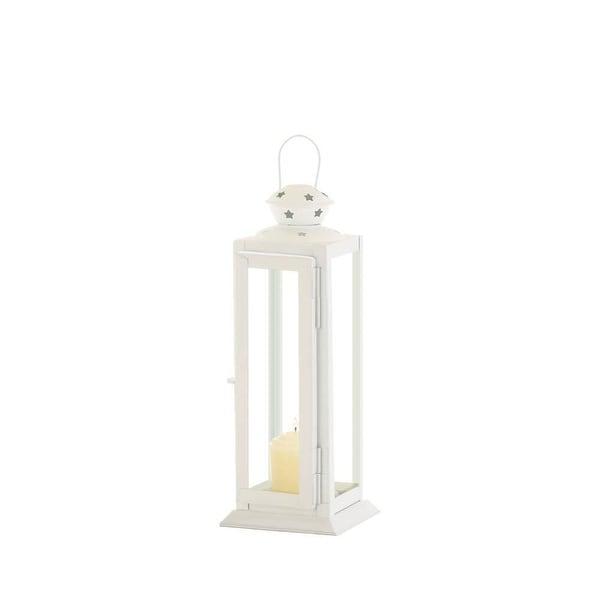 Novelty Small Cutout Stars White Lantern