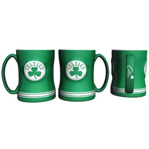 Boston Celtics Coffee Mug 14oz Sculpted Relief New