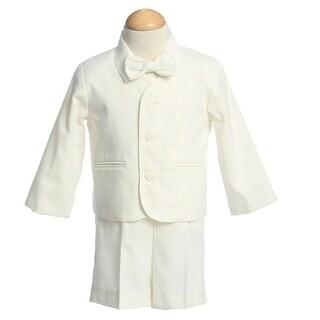 Boys Ivory Eton Short Formal Wear Ring Bearer Easter Suit 12M-4T