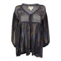 Denim & Supply Ralph Lauren Women's Paisley Print 3/4 Sleeve Top - Multi