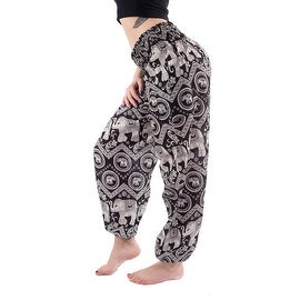 Women Wide Waist Elephant Boho Harem Yoga Baggy Pants