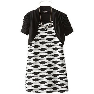 My Michelle Girls Metallic Ruched Casual Dress - 7
