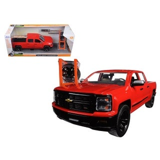 2014 Chevrolet Silverado Pickup Truck Red Just Trucks with Extra Wheels 1/24 Diecast Model by Jada