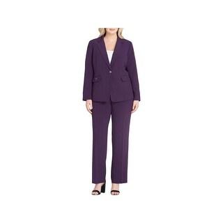 Tahari ASL Womens Plus Pant Suit 2 PC Office Wear