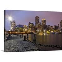 Premium Thick-Wrap Canvas entitled Boston skyline, Financial District, Massachusetts - Multi-color