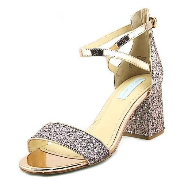 Betsey Johnson Libra Blush Glitter Sandals