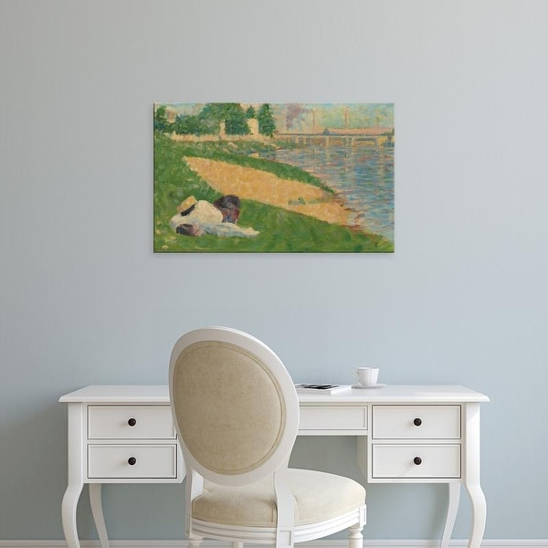 Easy Art Prints National Gallery of Art's 'The Seine With Clothing on the Bank' Premium Canvas Art