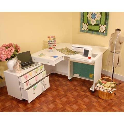 """Kangaroo Kabinets - Kangaroo & Joey Sewing Cabinet-White - 3"""" x 4"""" x 0.8"""""""