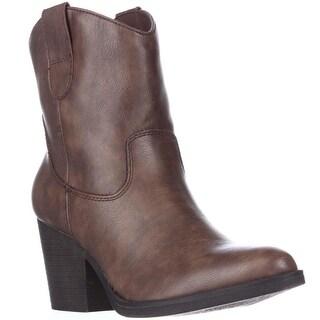 madden girl Ramz Western Boots, Cognac