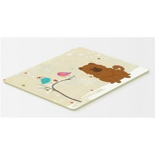 Carolines Treasures BB2614CMT Christmas Presents Between Friends Chow Chow Red Kitchen or Bath Mat 20 x 30