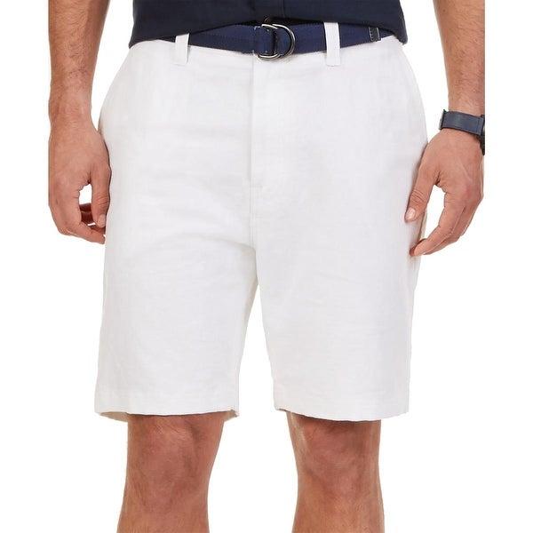 Nautica Mens Casual Shorts Linen Oxford