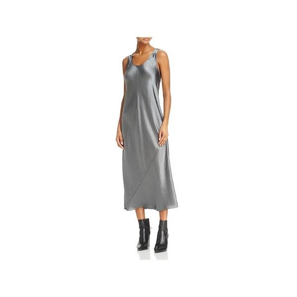 93fb8822d45ea Vince Womens Bias Slip Dress Satin Midi