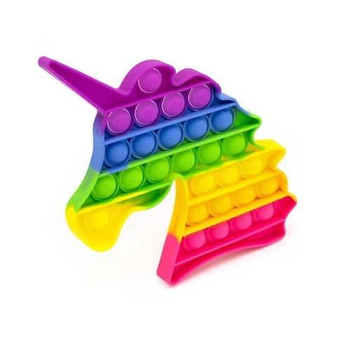 Fidget Bubble Popper Toy - Rainbow Unicorn, Stress Reliever