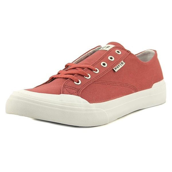 HUF Classic Lo Ess Tx Men Round Toe Canvas Red Sneakers