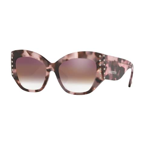 Valentino VA4056A 5067E7 54 Pink Havana Woman Butterfly Sunglasses