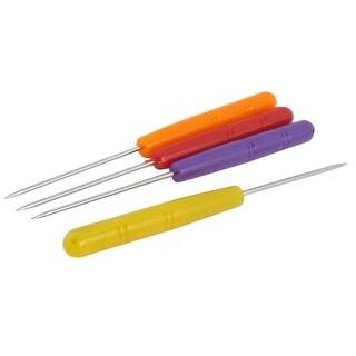 Unique Bargains 4Pcs Orange Red Plastic Handle Sewing Machine Thread Unpicker Seam Rippe