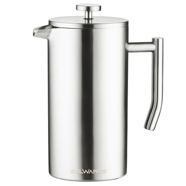 Belwares Stainless Steel French Coffee Press, With Double Wall and Extra Filters. Opens flyout.