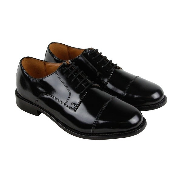 Bostonian Andover Mens Black Leather Casual Dress Lace Up Oxfords Shoes